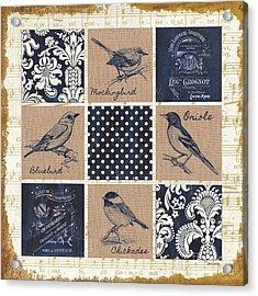 Vintage Songbird Patch 2 Acrylic Print by Debbie DeWitt