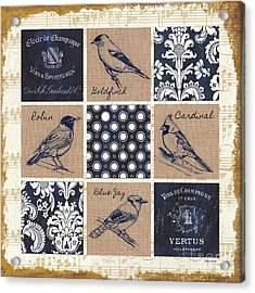 Vintage Songbirds Patch Acrylic Print
