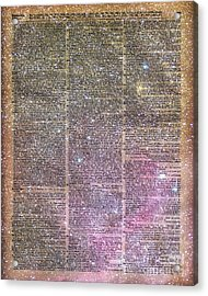 Vintage Space Dictionary Book Page Acrylic Print by Jacob Kuch