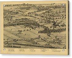 Vintage St Louis Map - 1875 Acrylic Print by Camille Dry
