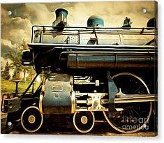 Vintage Steam Locomotive 5d29112brun Acrylic Print by Home Decor