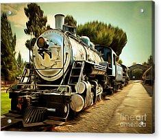 Vintage Steam Locomotive 5d29135brun Acrylic Print by Home Decor
