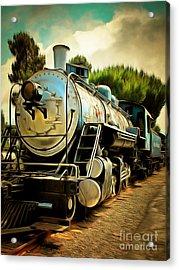 Vintage Steam Locomotive 5d29138brun Acrylic Print by Home Decor