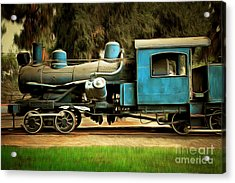 Vintage Steam Locomotive 5d29167brun Acrylic Print by Home Decor