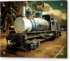 Vintage Steam Locomotive 5d29172brun Acrylic Print by Home Decor