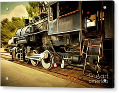 Vintage Steam Locomotive 5d29222brun Acrylic Print by Home Decor