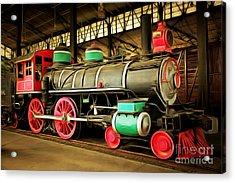 Vintage Steam Locomotive 5d29244brun Acrylic Print by Home Decor