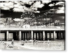 Vintage Steel Pier At Atlantic City Acrylic Print