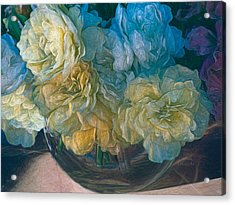 Vintage Still Life Bouquet Painting Acrylic Print
