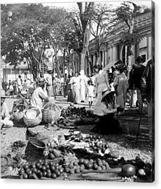 Vintage Street Scene In Ponce - Puerto Rico - C 1899 Acrylic Print by International  Images