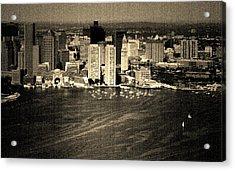 Vintage Style Boston Skyline Acrylic Print