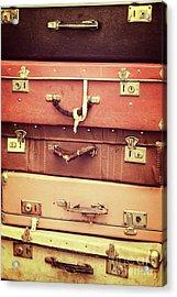 Vintage Suitcases Acrylic Print