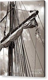 Vintage Tall Ship Rigging Acrylic Print