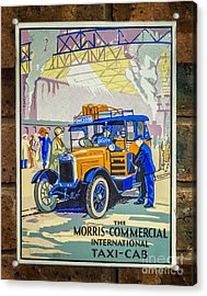 Vintage Taxi Sign Acrylic Print by Adrian Evans