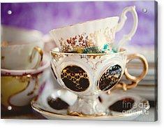 Vintage Teacups Acrylic Print by Kim Fearheiley