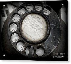 Vintage Telephone Acrylic Print by Lainie Wrightson