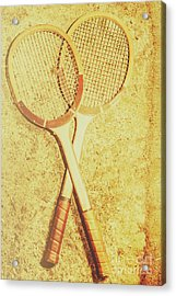 Vintage Tennis Racquets Acrylic Print