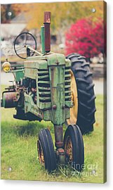 Acrylic Print featuring the photograph Vintage Tractor Autumn by Edward Fielding