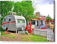 Vintage Trailer And Diner In Bisbee Arizona Acrylic Print