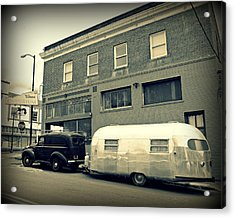 Vintage Trailer In Crockett Acrylic Print