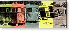 Acrylic Print featuring the painting Sarasota Series Vintage Trailer Park Pop Art by Edward Fielding