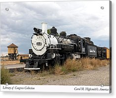 Vintage Train At A Scenic Railroad Station In Antonito In Colorado Acrylic Print by Carol M Highsmith