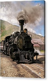Vintage Train Engine Acrylic Print by K Pegg