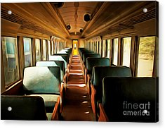 Vintage Train Passenger Car 5d28306brun Acrylic Print by Home Decor