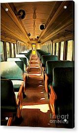 Vintage Train Passenger Car 5d28307brun Acrylic Print by Home Decor