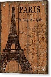 Vintage Travel Paris Acrylic Print by Debbie DeWitt