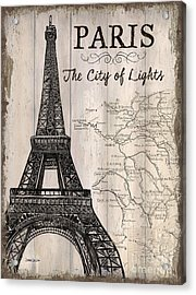 Vintage Travel Poster Paris Acrylic Print