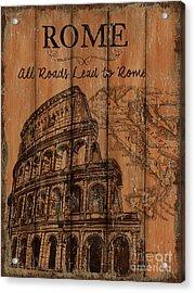 Vintage Travel Rome Acrylic Print by Debbie DeWitt