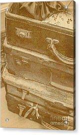Vintage Travel Stack Acrylic Print