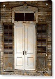 Vintage Tropical Weathered Key West Florida Doorway Acrylic Print by John Stephens
