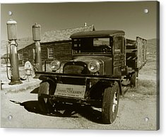 Old Truck 1927 - Vintage Photo Art Print Acrylic Print by Art America Gallery Peter Potter