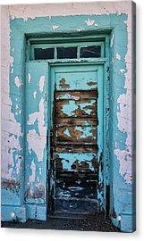 Acrylic Print featuring the photograph Vintage Turquoise Door  by Saija Lehtonen