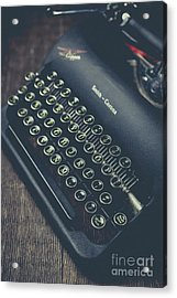 Acrylic Print featuring the photograph Vintage Typewriter Faded Film by Edward Fielding