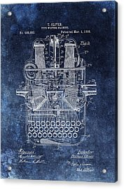 Vintage Typewriter Patent Acrylic Print by Dan Sproul
