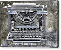 Vintage Typewriter Photo Paint Acrylic Print by Nina Silver