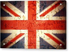 Vintage Union Jack Acrylic Print by Jane Rix