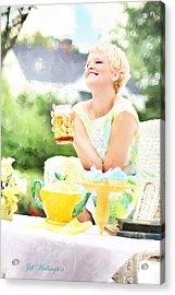 Vintage Val Iced Tea Time Acrylic Print