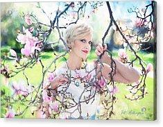 Vintage Val Magnolias Acrylic Print