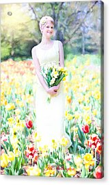 Vintage Val Spring Tulips Acrylic Print