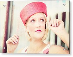 Vintage Val The Coral Hat Acrylic Print
