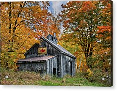 Acrylic Print featuring the photograph Vermont Sugarhouse by Expressive Landscapes Fine Art Photography by Thom