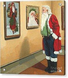 Vintage Victorian - Museum Santa Acrylic Print by Linda Apple