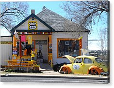 Vintage Vw Beetle At Seligman Antiques, Historic Route 66 Acrylic Print