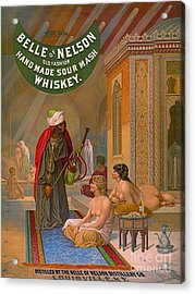Vintage Whiskey Ad 1883 Acrylic Print by Padre Art
