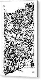 Vintage William Morris Textile Pattern Design Acrylic Print