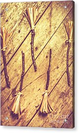 Vintage Witches Broomsticks Acrylic Print